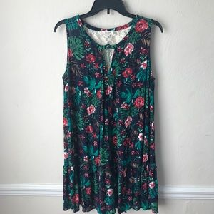 Umgee Floral Pleated Tunic